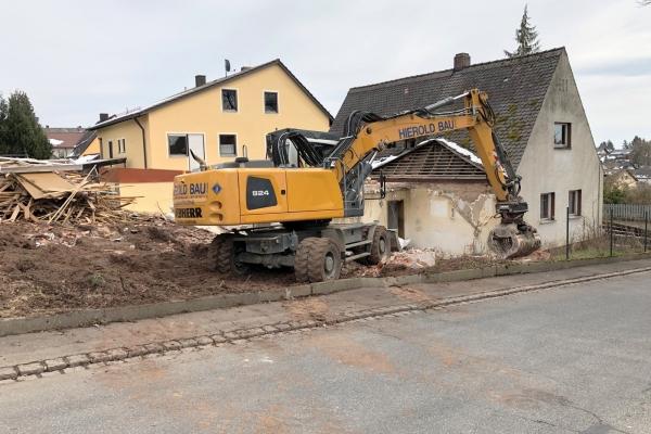 Abriss Anwesen Münsterer